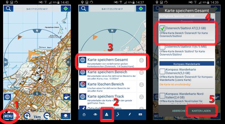 kompass karten online